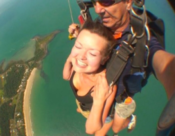 Sara Hardman Travels -Skydiving Barrier Reef