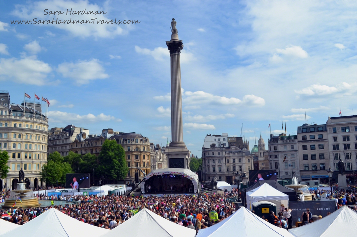 Trafalgar Square by Sara Hardman