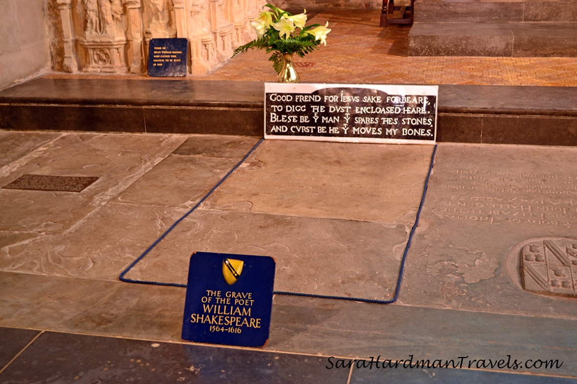William Shakespeare's grave by Sara Hardman