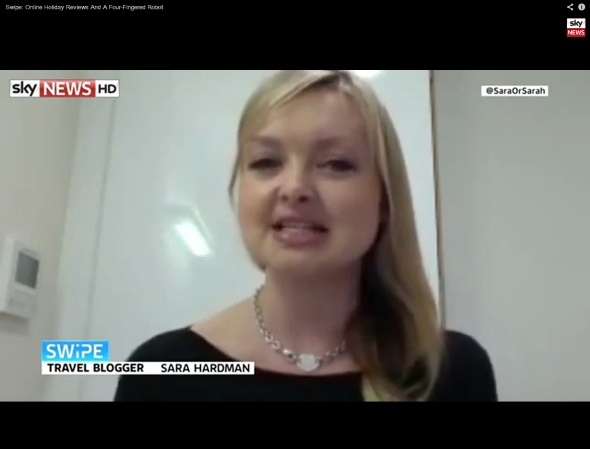 SkyNews interview Sara Hardman