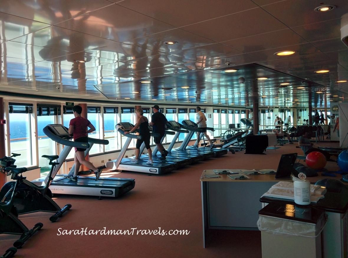 P&O Cruise Azura Gym Sara Hardman