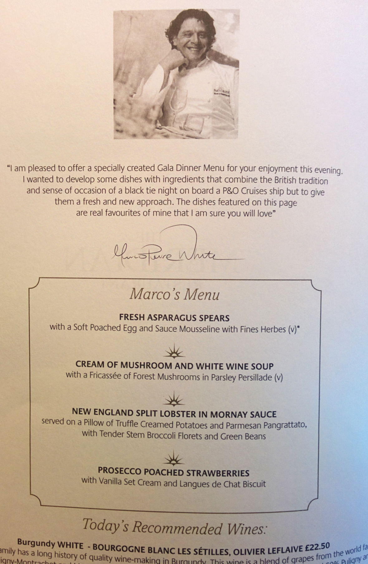 Glad Dinner by Marco Pierre White