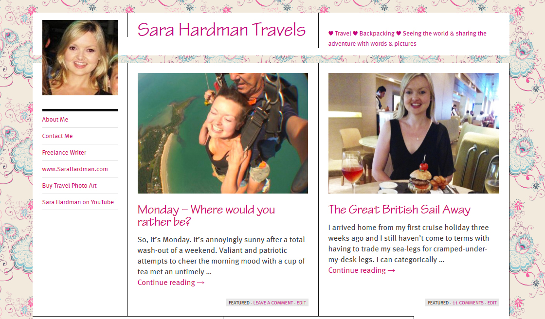 Sara Hardman Travels Blog Tour